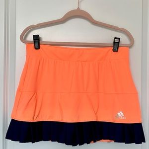 ADIDAS Orange & Navy Tennis Skirt w/ ClimaCool